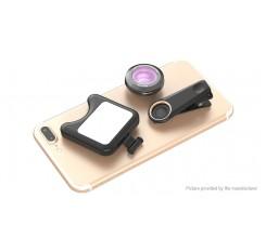 Apexel Clip-on Selfie LED Fill Light w/ Wide Angle Macro Lens