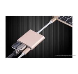 3-in-1 USB-C to USB-C/HDMI/USB 3.0 Adapter Converter (7cm)