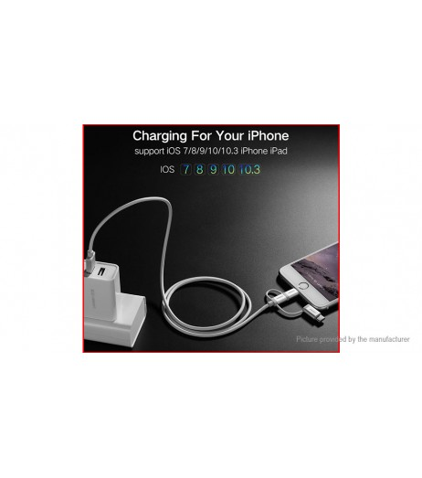 Authentic UGREEN 3-in-1 Micro-USB/8-pin/USB-C to USB 2.0 Cable (50cm)