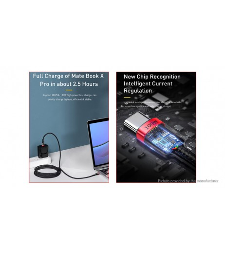 Authentic Baseus Cafule USB-C to USB-C Braided Data & Charging Cable (2m)